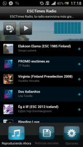 playlist radio esctimes